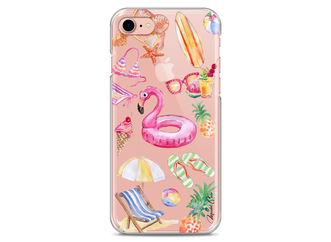 Coque iPhone 7/8 Summer watercolor pattern beach   Master Case