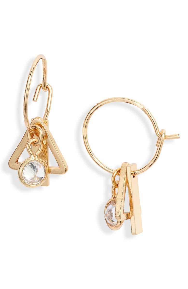 Ettika Tiny Charm Hoop Earrings | Nordstrom
