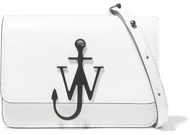 Logo Mini Leather Shoulder Bag - White