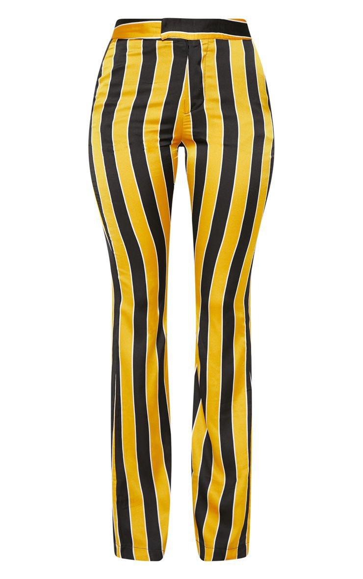 Yellow Stripe Straight Leg Trouser   PrettyLittleThing USA
