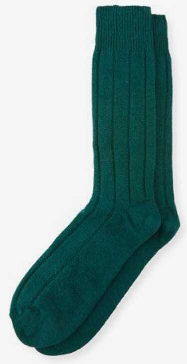 neiman marcus thermal socks green