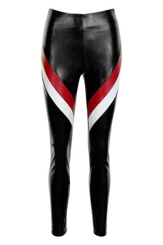 Pantalones skinny de efecto cuero con varias piezas   Boohoo