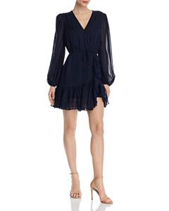 AQUA Bell-Sleeve Eyelet & Lace Dress - 100% Exclusive | Bloomingdale's