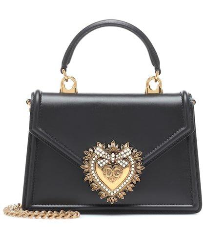 Devotion Small leather shoulder bag