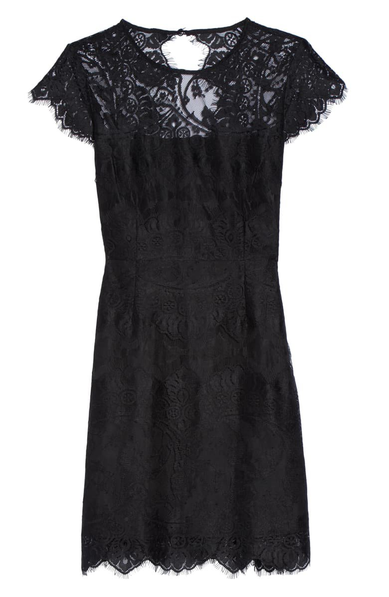 BB Dakota Jayce Lace Sheath Cocktail Dress black