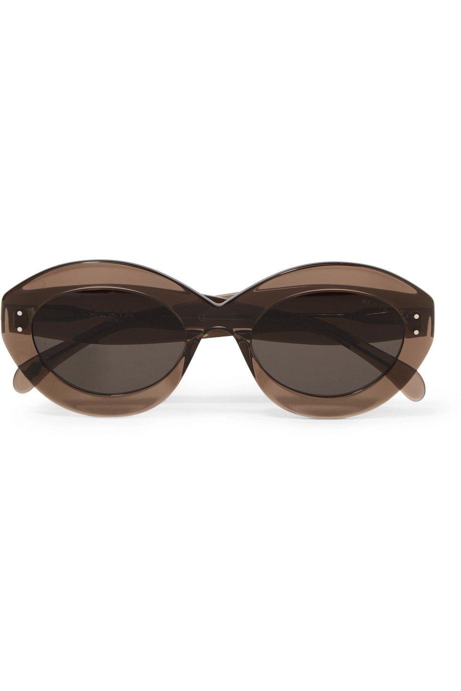 Alaïa | Round-frame acetate sunglasses | NET-A-PORTER.COM