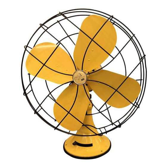 This gorgeous mid century bright yellow Emerson electric fan is sure to be