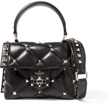 Garavani Candystud Mini Quilted Leather Shoulder Bag - Black