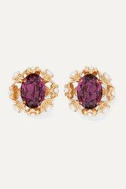 Dolce & Gabbana   Gold-tone crystal clip earrings   NET-A-PORTER.COM