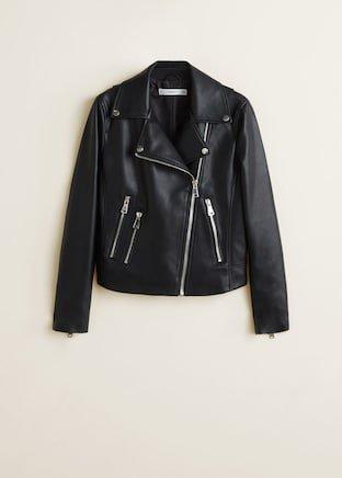 Zipped biker jacket - Women   Mango USA