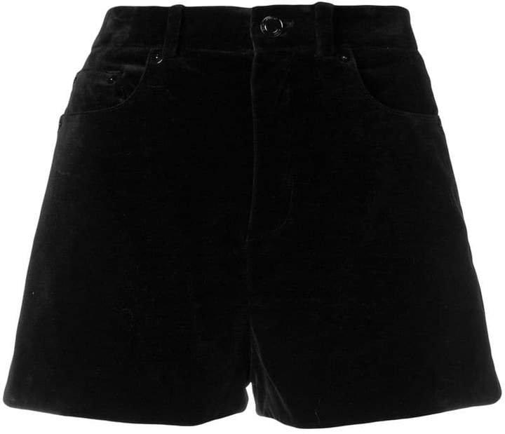 mini cord short shorts