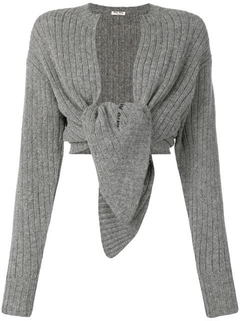 Miu Miu ribbed wool cardigan