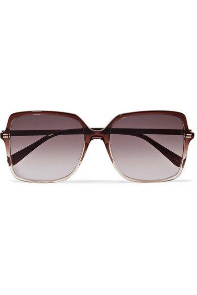 Gucci | Oversized square-frame ombré acetate sunglasses | NET-A-PORTER.COM