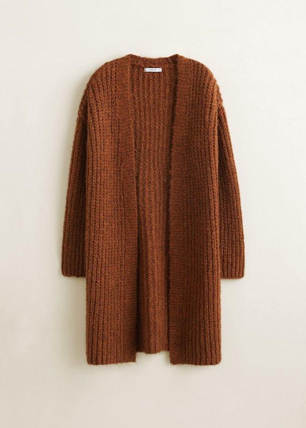 Chunky knit cardigan - Woman | Mango Denmark