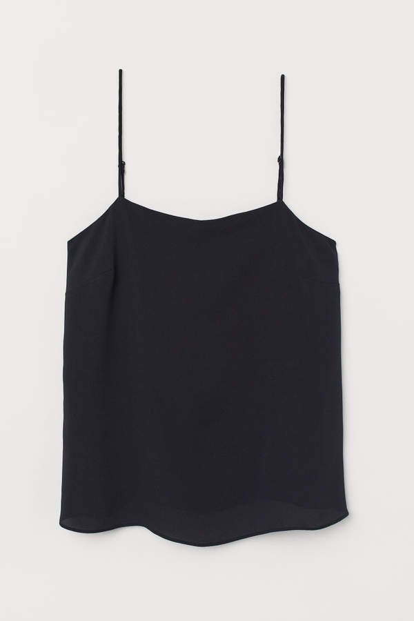 Creped Camisole Top - Black