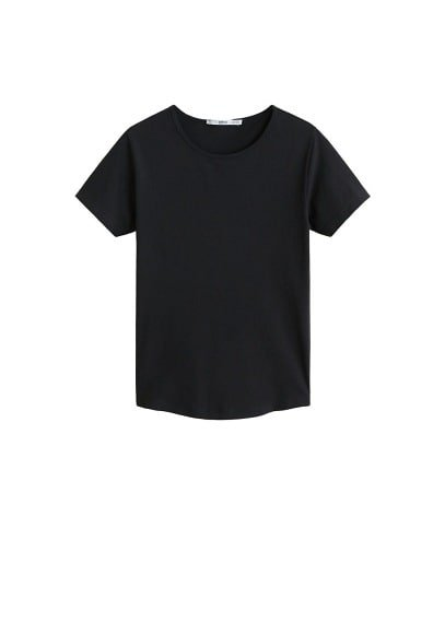 MANGO Essential cotton-blend t-shirt