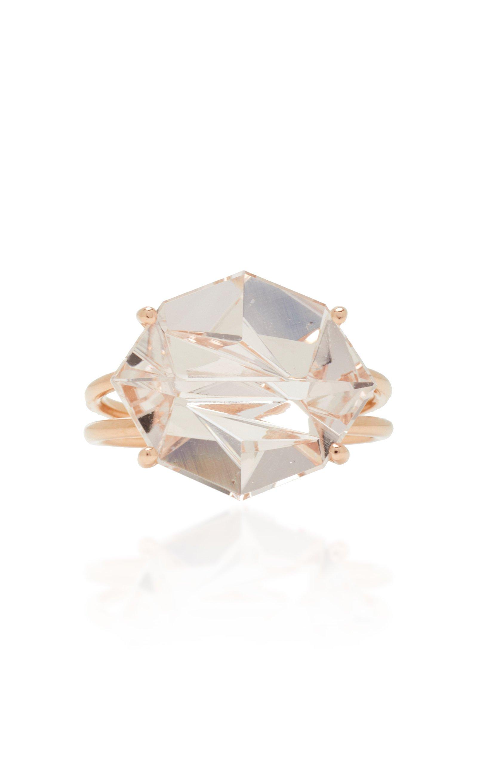 18K Rose Gold Morganite Ring by MISUI | Moda Operandi