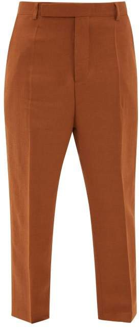 Easy Astaires High Rise Crepe Trousers - Womens - Brown