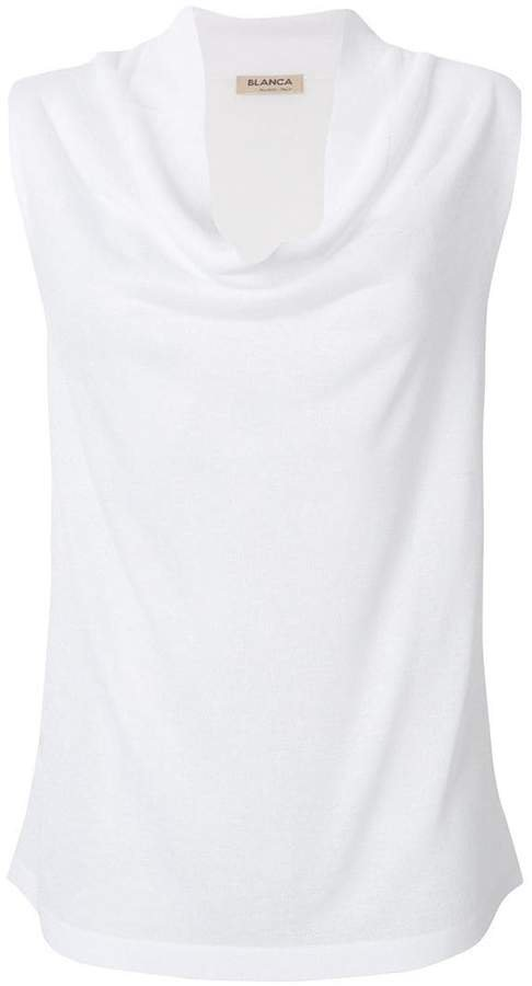 Blanca sleeveless fitted top
