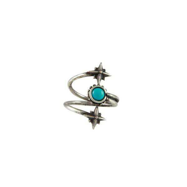 Rings | Shop Women's Mystical Wrap Ring In Antique Silver With Turquoise at Fashiontage | R100.TRQ.AS