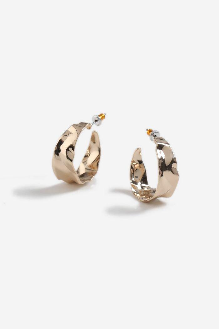 Wide Hammered Hoop Earrings | Topshop