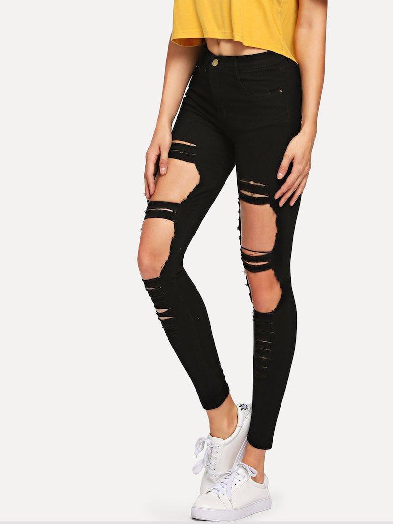 Ripped Skinny Jeans | ROMWE