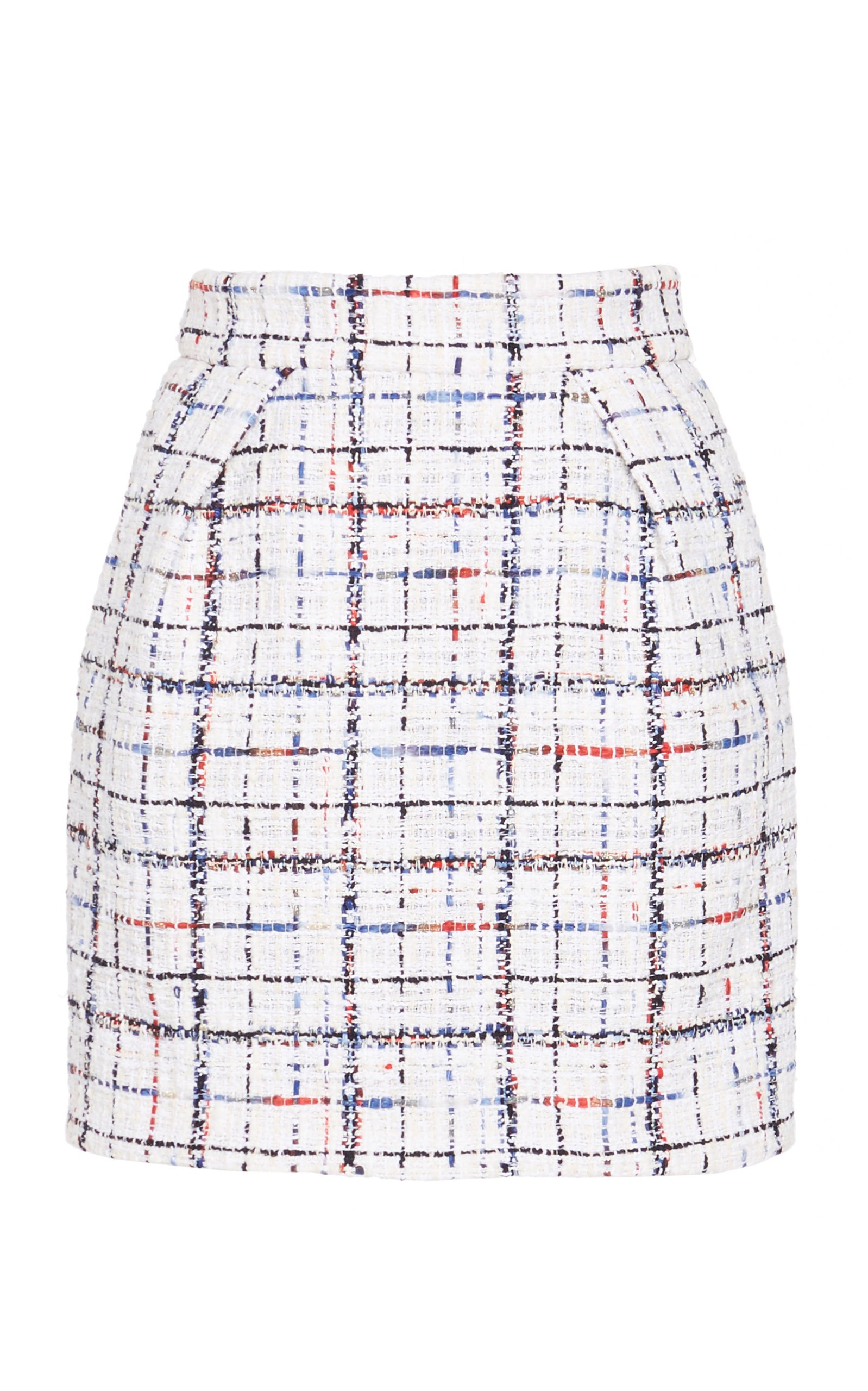 Alexandre Vauthier Plaid Crepe Mini Skirt