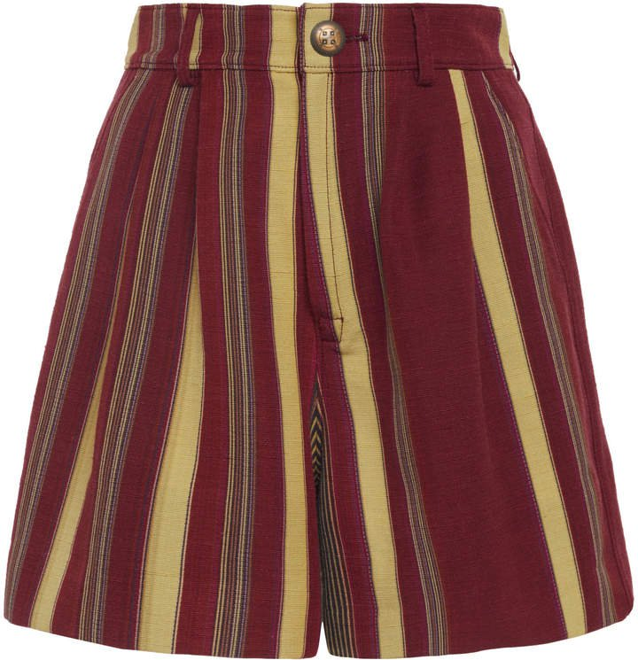 Etro Striped Silk-Blend Shorts Size: 38