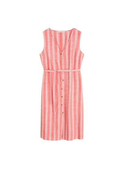 Violeta BY MANGO Striped bow dress