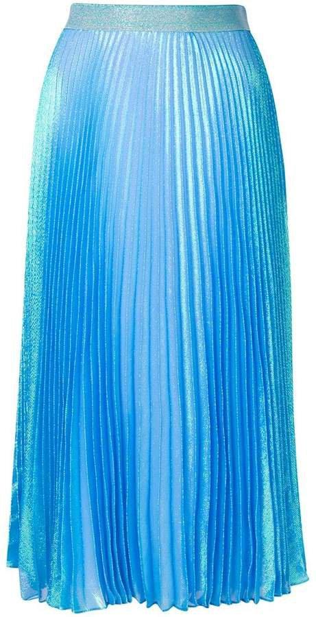 Irridescent pleated skirt