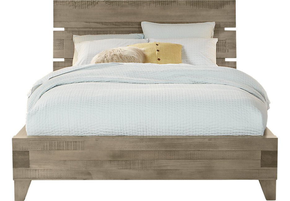 Crestwood Creek Gray 3 Pc King Panel Bed  - King Beds Colors