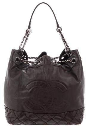Surpique Drawstring Bucket Bag