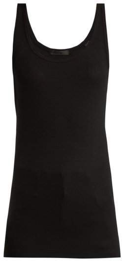 Atm - Ribbed Jersey Tank Top - Womens - Black