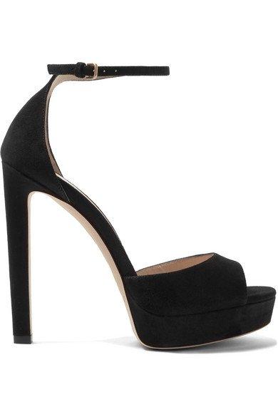 Jimmy Choo | Pattie 130 suede platform sandals | NET-A-PORTER.COM