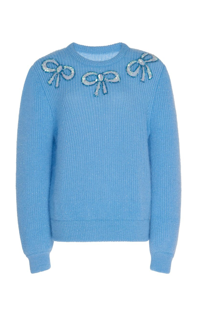 Bow-Accented Wool Sweater by Alessandra Rich | Moda Operandi