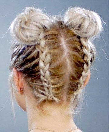 braided space buns