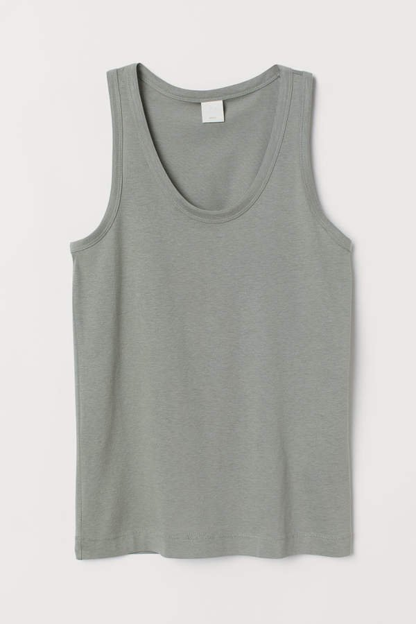 Cotton-blend Tank Top - Green