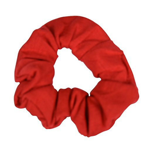Amazon.com : Set of 2 Solid Scrunchies - Red : Beauty