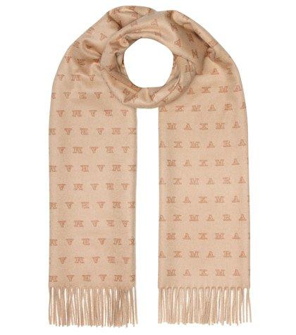 Logo cashmere scarf