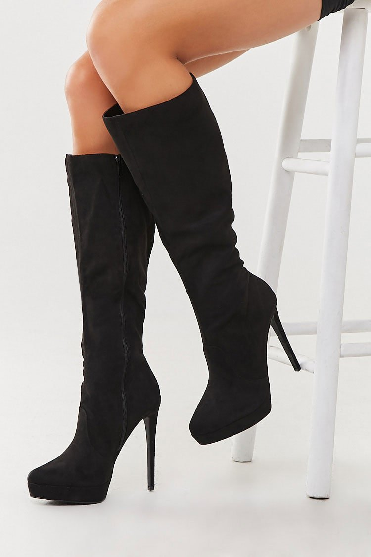 Faux Suede Knee-High Boots | Forever 21