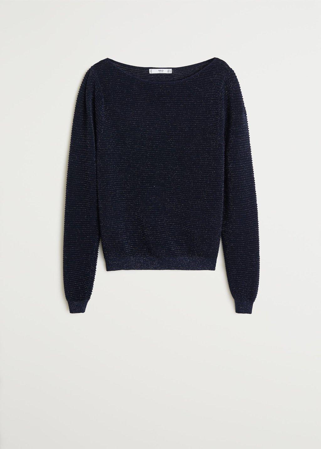 Ribbed metallic sweater - Women | Mango USA