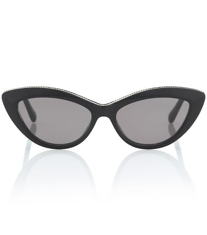 Chain-trimmed cat-eye sunglasses