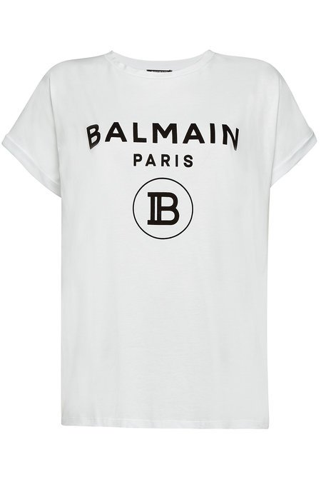 Balmain - Printed Cotton T-Shirt - white