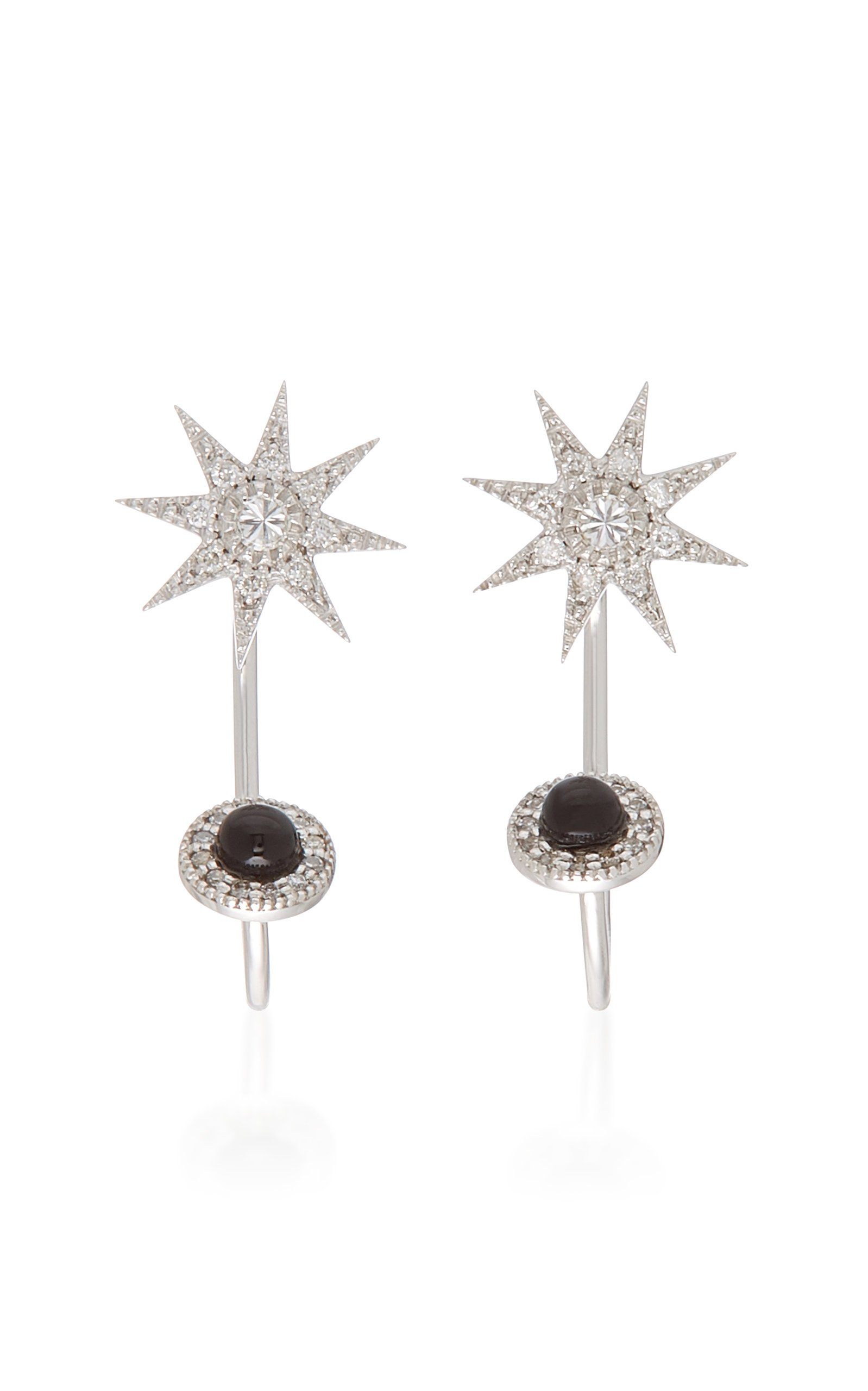 Colette Jewelry Phoebe 18K Gold and Diamond Star Earrings