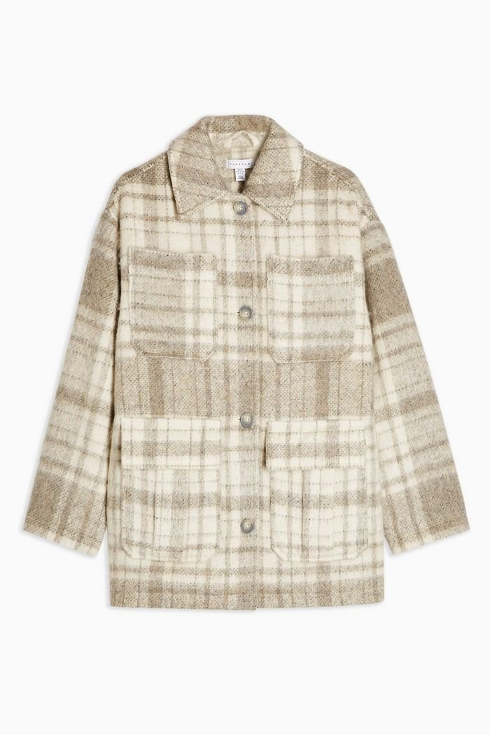 Cream Check Jacket | Topshop