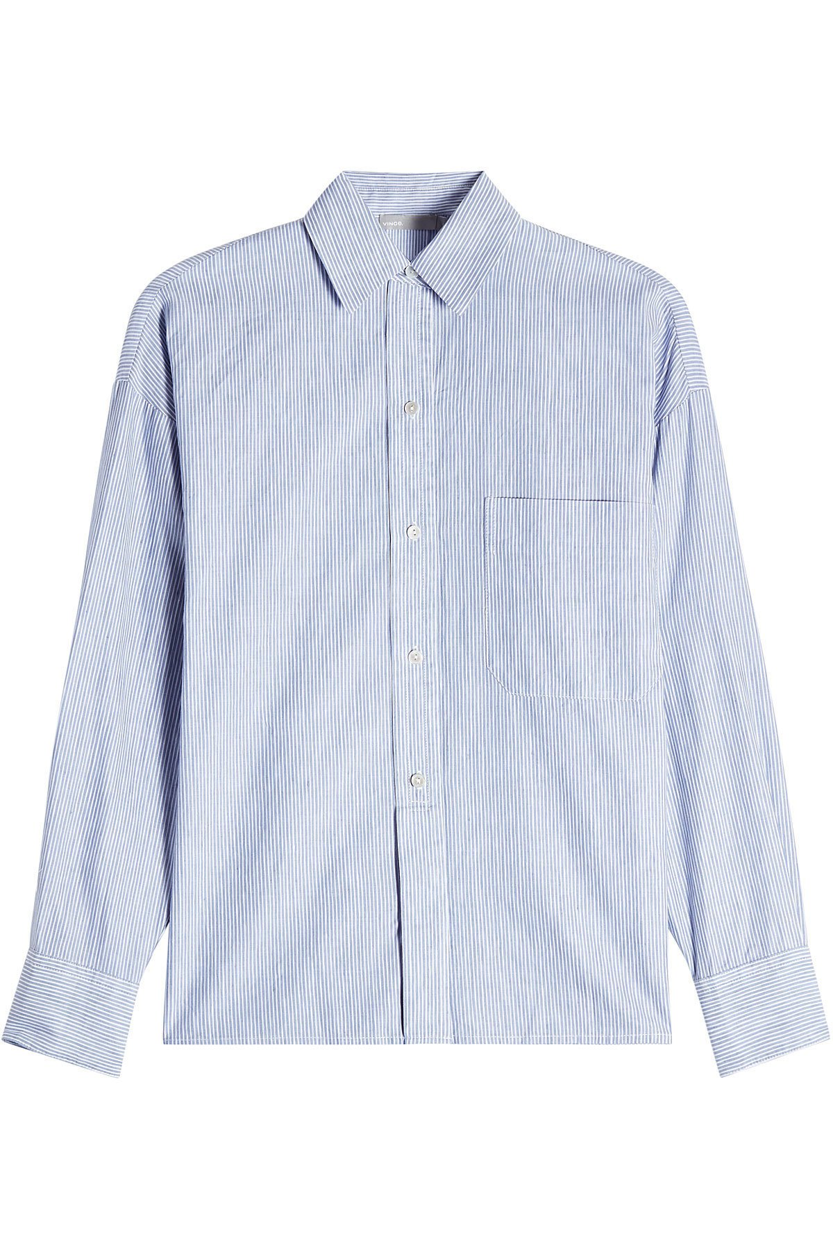 Striped Linen Shirt with Cotton Gr. M
