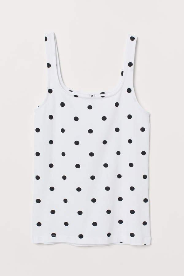 Cotton Jersey Tank Top - White