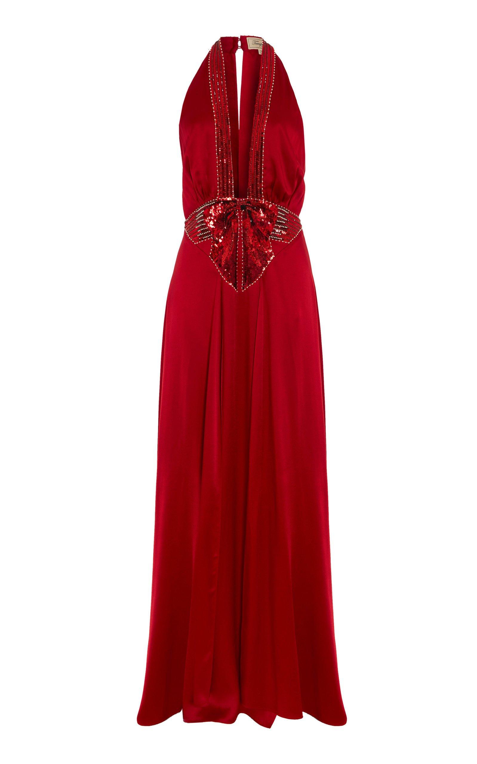 Temperley London Lolita Halter Neck Dress