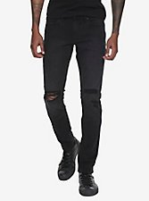 "XXX RUDE 30"" Inseam Black Stinger Jeans"