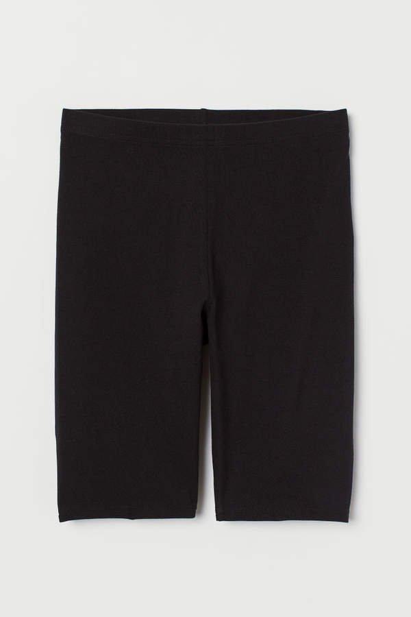 Cotton Jersey Cycling Shorts - Black